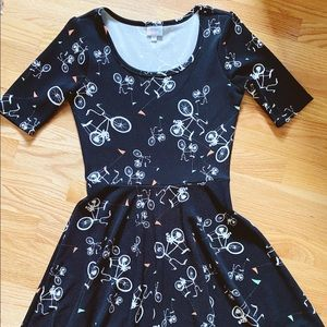 LuLaRoe Bicycle patterned Nicole dress